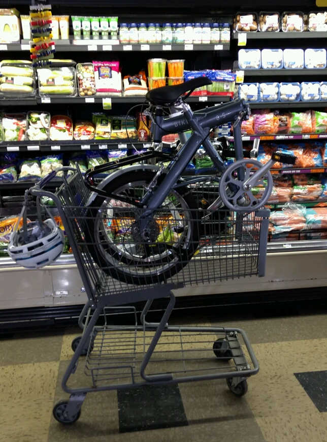 8S in a shopping cart at a grocery store