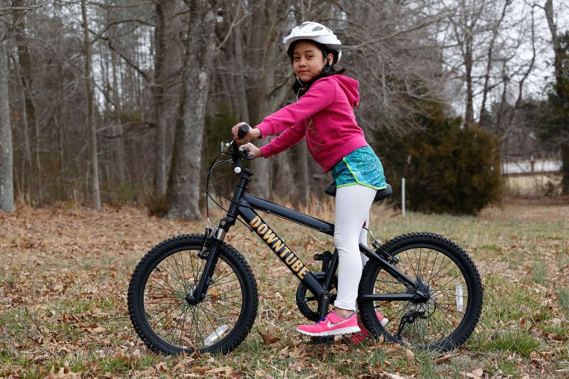 6 year old girl on a bike